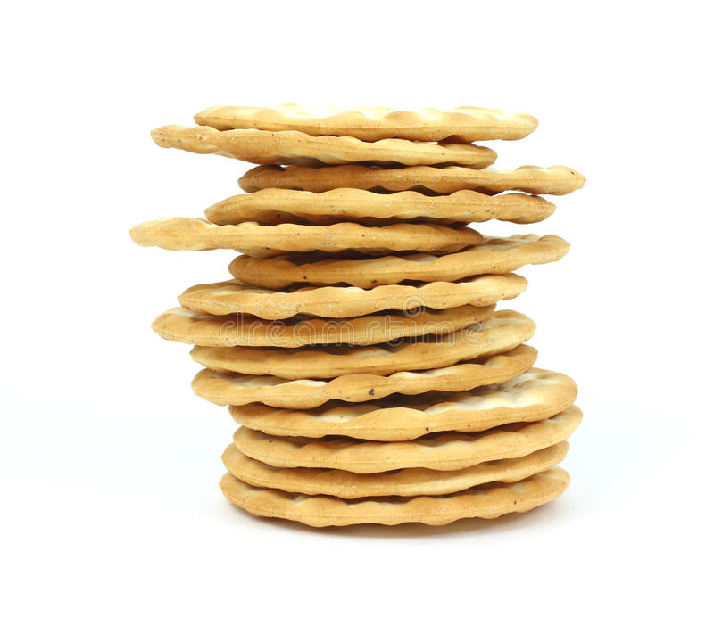 Stack Round Thin Crackers royalty free stock photo