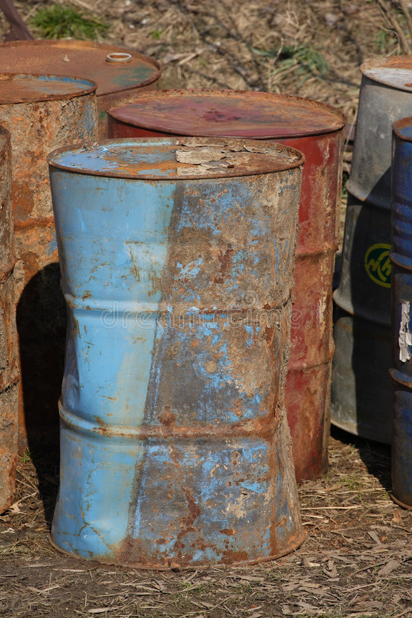 Download Stack of rusting barrels stock photo. Image of industrial - 8805558