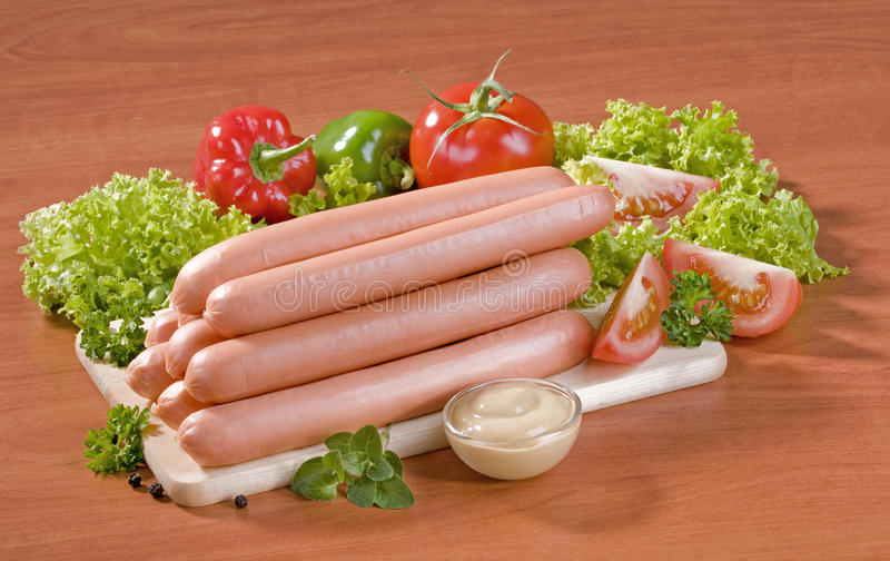 Download Stack of sausages stock image. Image of closeup, chicken - 11482289