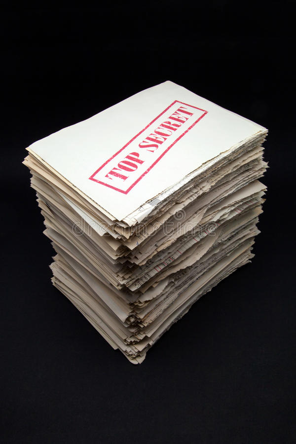Stack of secret documents royalty free stock image