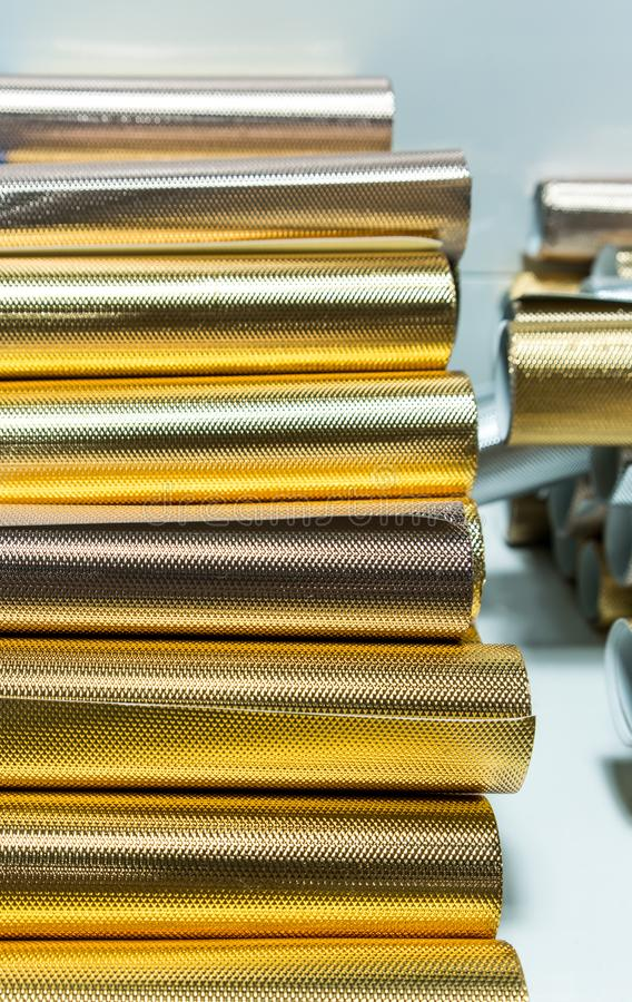 Shiny Wrapping Paper Stock Image Image Of Bright