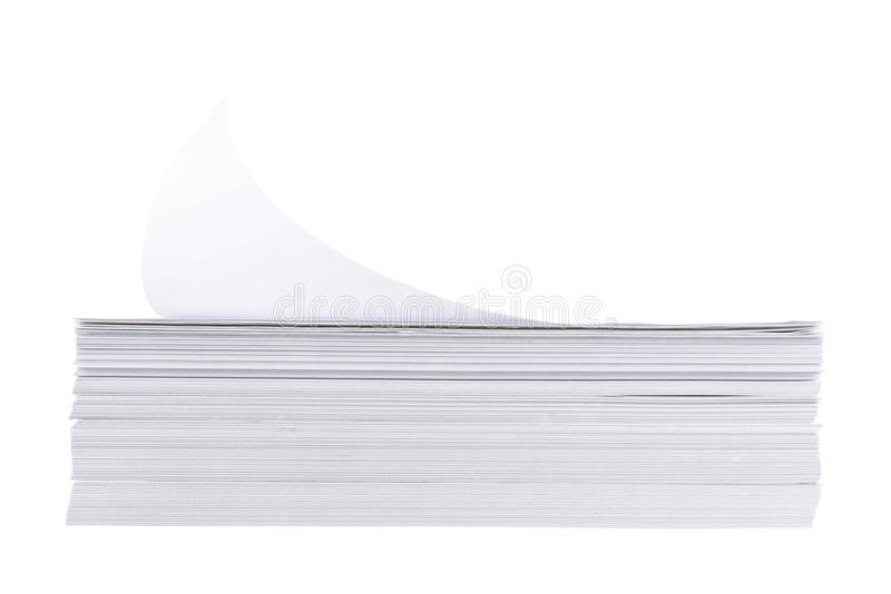 Stack Of A4 Size White Paper Sheet Stock Photos Image