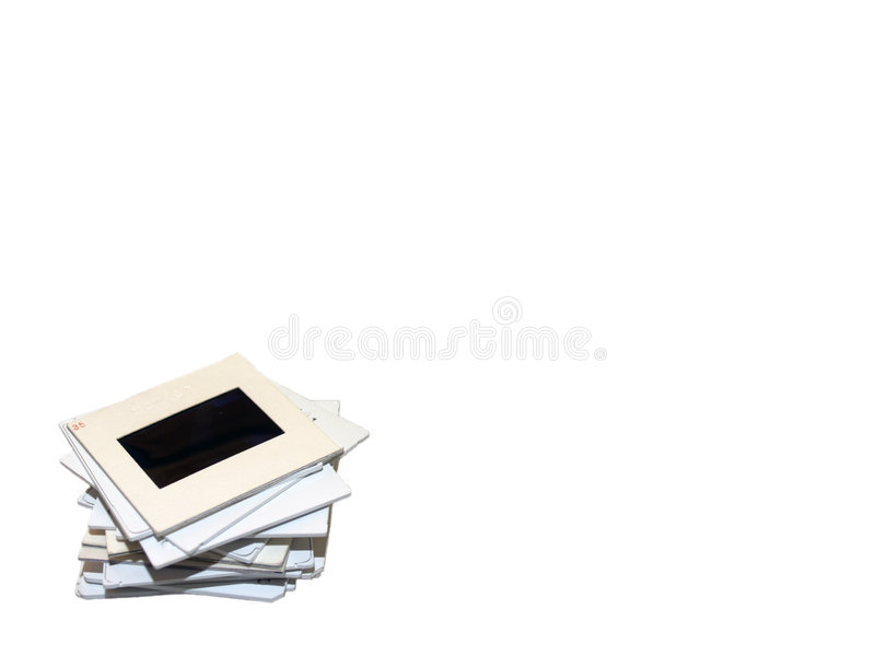 Download Stack of Slides on White stock image. Image of antique - 498103