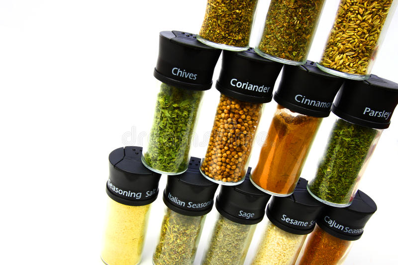 Download Stack of Spices stock photo. Image of glass, cayenne - 10926426