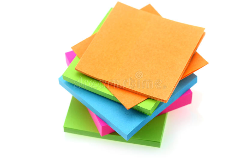 Stack of sticky notes stock photos
