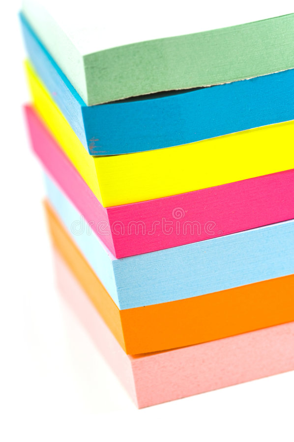 Download Stack of sticky notes stock image. Image of remind, blank - 2968509