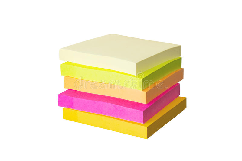 Stack of sticky notes royalty free stock images
