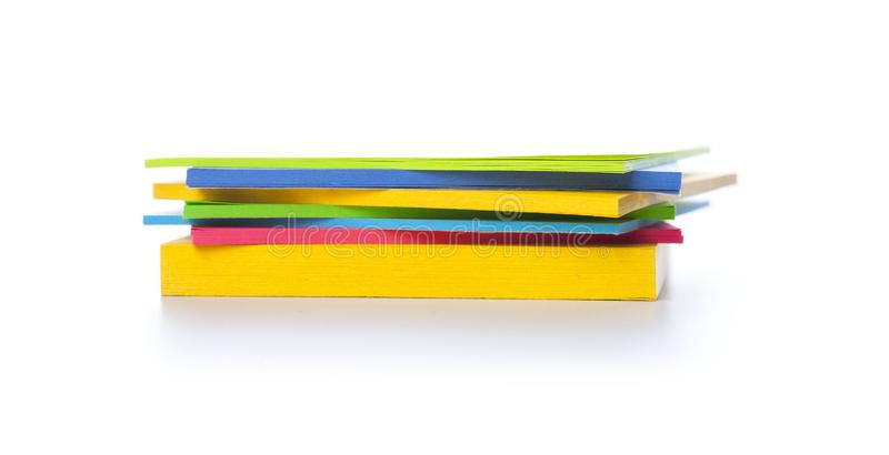 Stack of sticky notes royalty free stock image