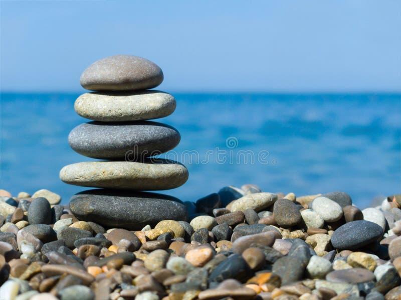 Stack Of Stones On Beach Stock Photos