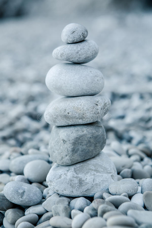 Download Stack Of Stones On The Beach Stock Photo - Image of alternative, balance: 34471800