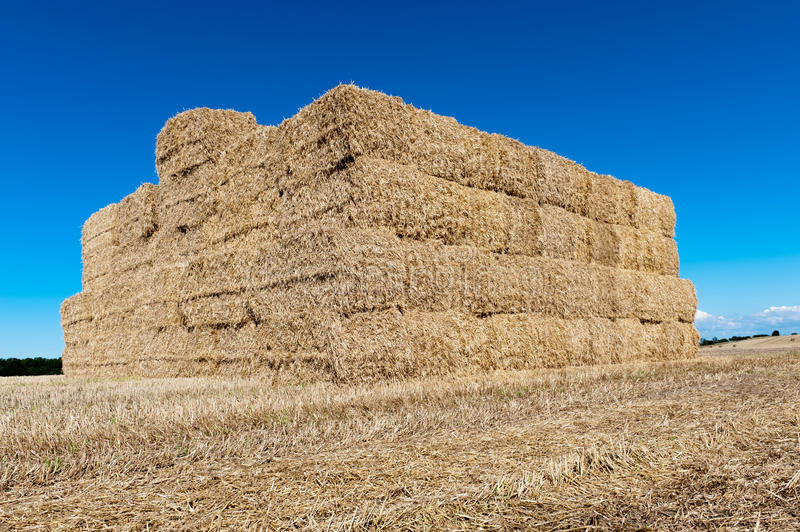 Stack of straw royalty free stock photo