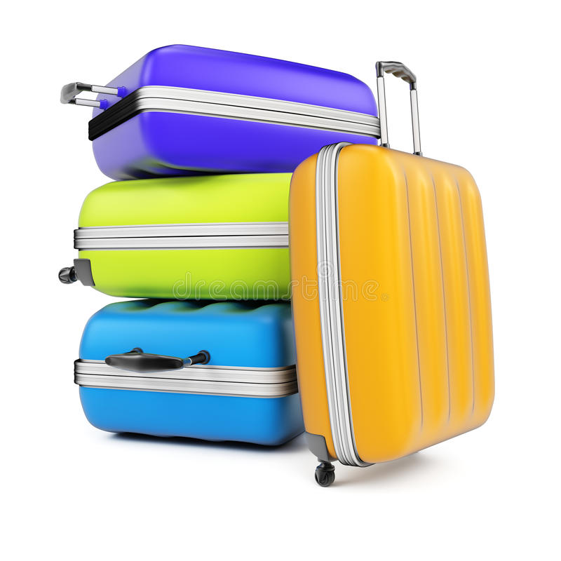 Stack of suitcases stock illustration