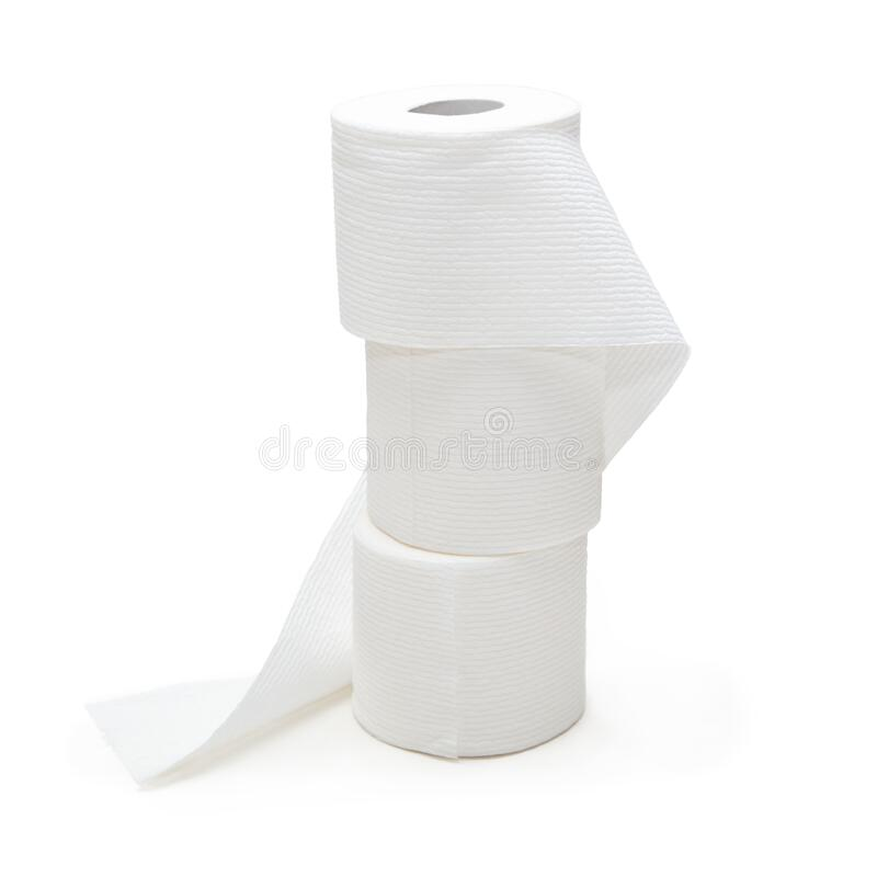 Stack of Supply of Toilet Paper Bath Tissue stock photography