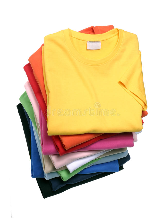 Download Stack of T-Shirts stock photo. Image of apparel, folded - 15729384