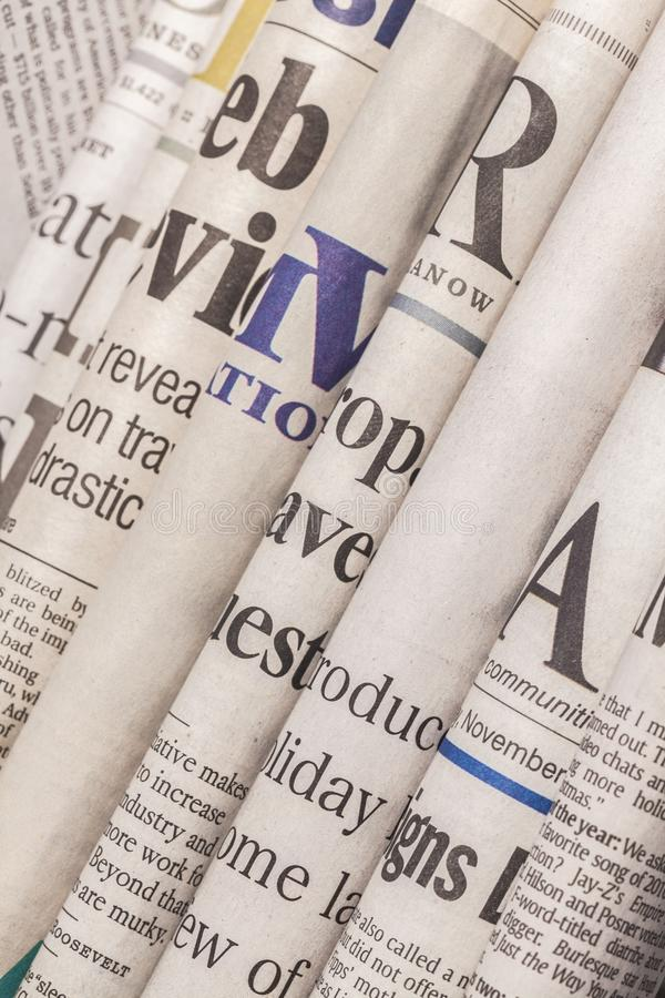 Stack. Tabloid paper media photography advertisement heap royalty free stock photography