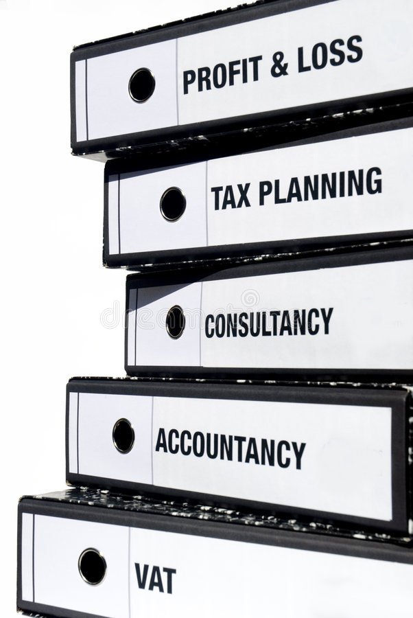 Stack Of Taxation Files Royalty Free Stock Images