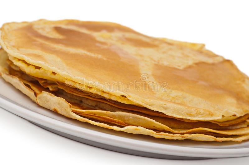 Download Stack of thin pancakes stock image. Image of diet, healthy - 15006431