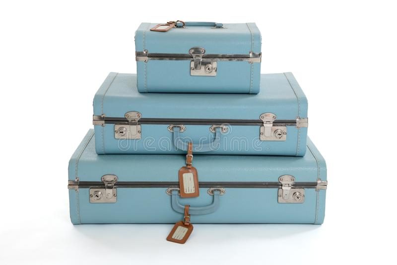 Stack of Vintage Suitcases royalty free stock photo