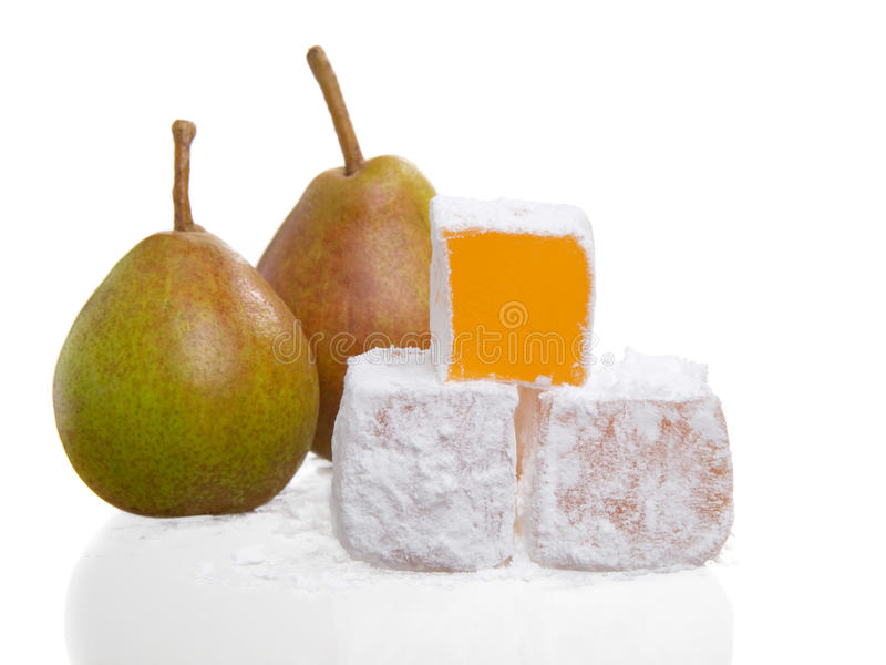 Stack of turkish delight royalty free stock photos
