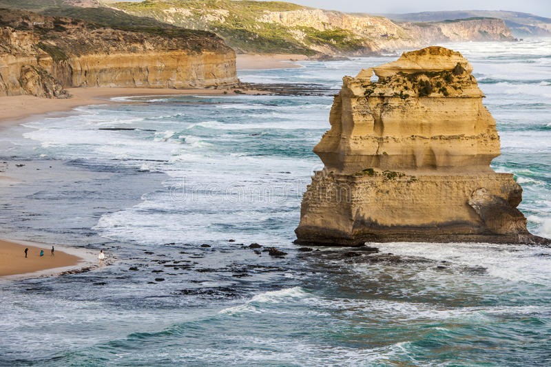 "Stack in Ocean - Twelve Apostles, Australia. One stack of the popular attraction ""The twelve Apostles"" on the Great Ocean Road in Southern Australia royalty free stock image"