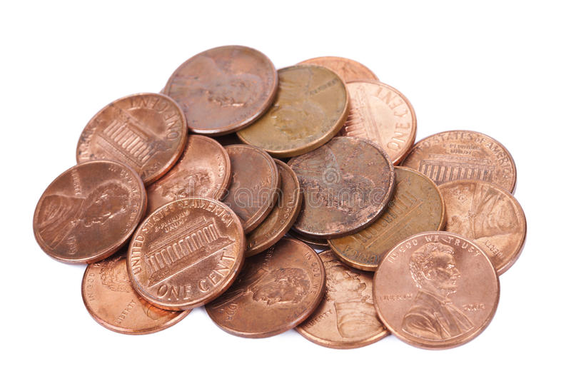 Isolated Pile Of Pennies Stock Photo Image 29822410