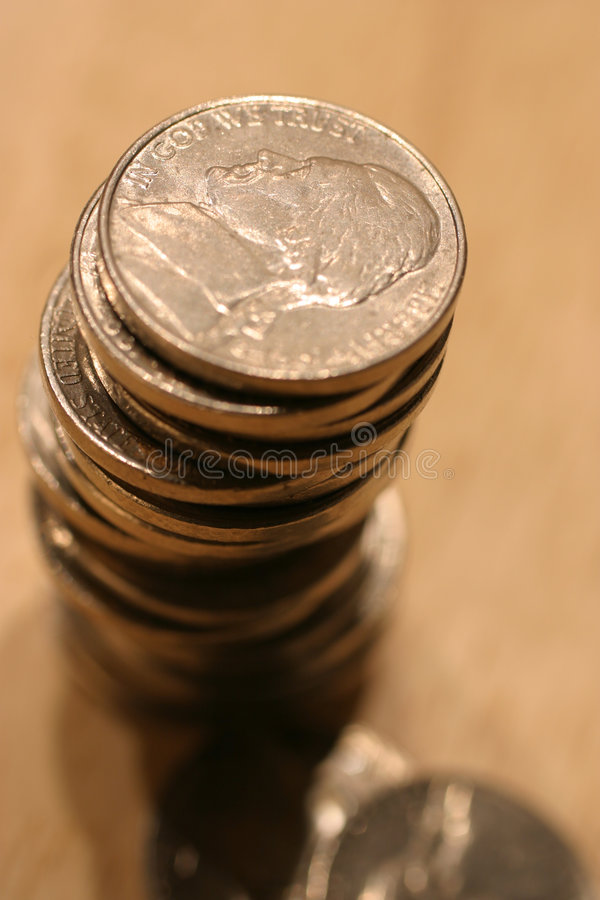 Download Stack of US Nickles stock photo. Image of business, denomination - 5796