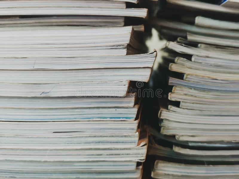 Stack of Used Old Books stock images