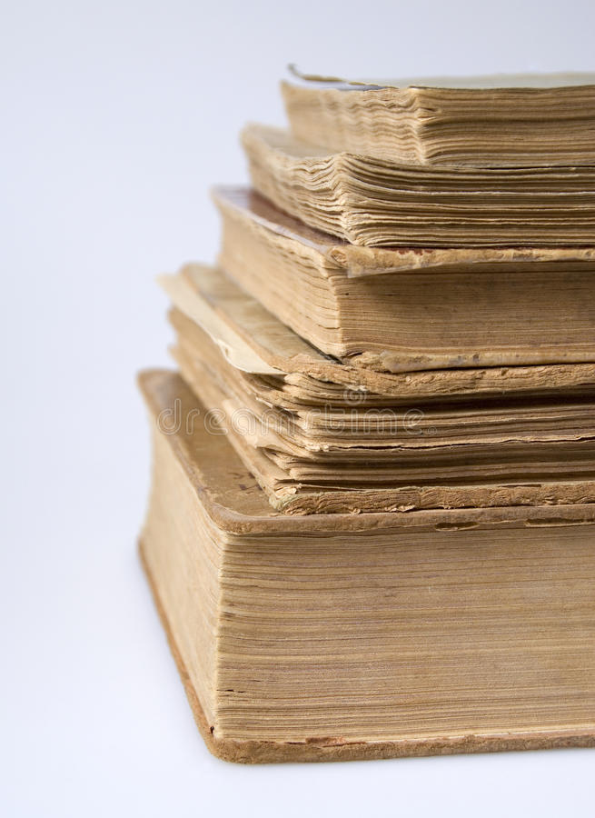 Download A stack of vintage books stock photo. Image of ussr, stack - 30298396
