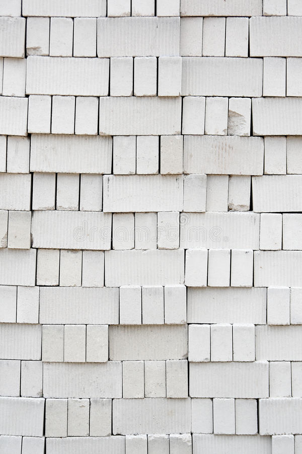 Stack of White Bricks royalty free stock photography