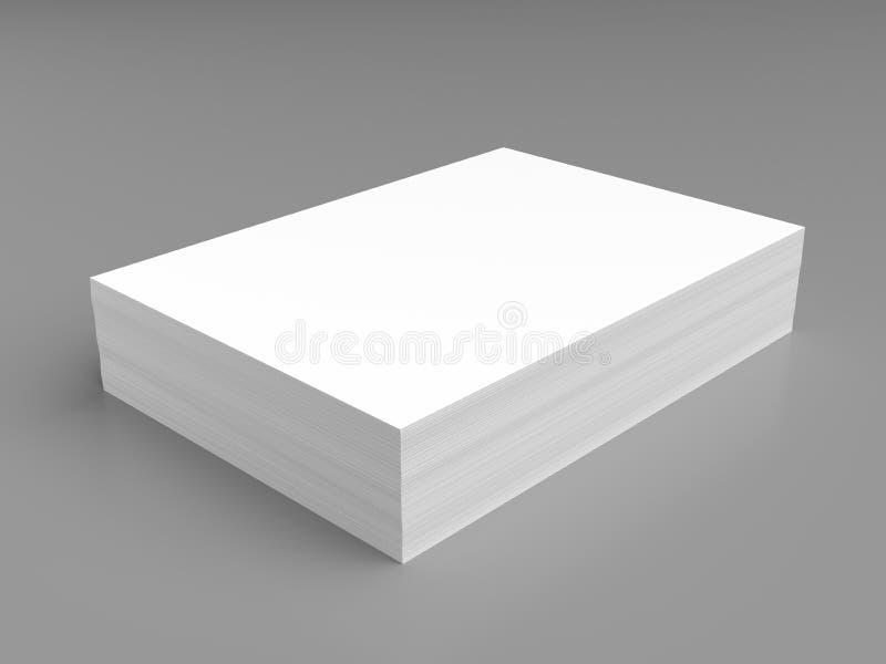 Stack of white paper vector illustration