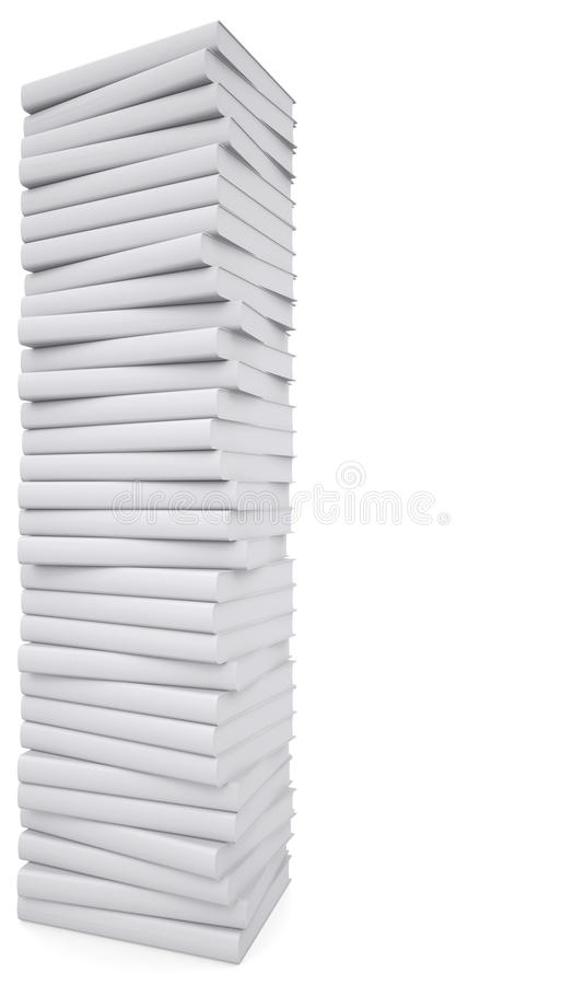 Download A stack of white papers stock illustration. Image of objects - 30946434