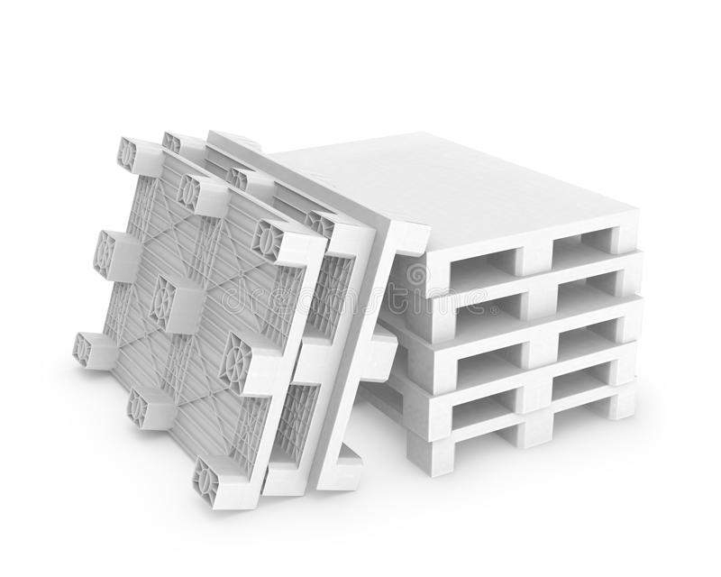 Download Stack Of White Plastic Pallets Stock Illustration - Image: 25388820