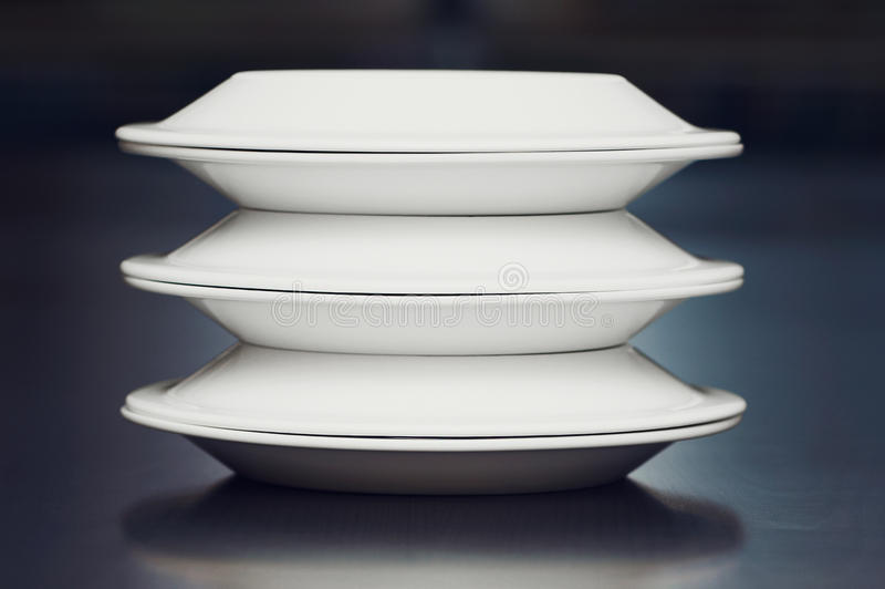 Download A stack of white plates stock image. Image of refreshment - 25920627