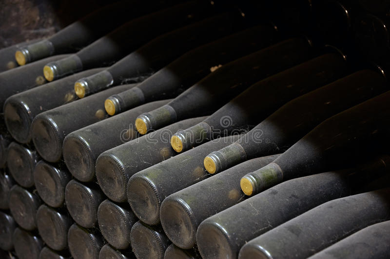 Download Stack of wine bottles stock image. Image of alcohol, winery - 16667833