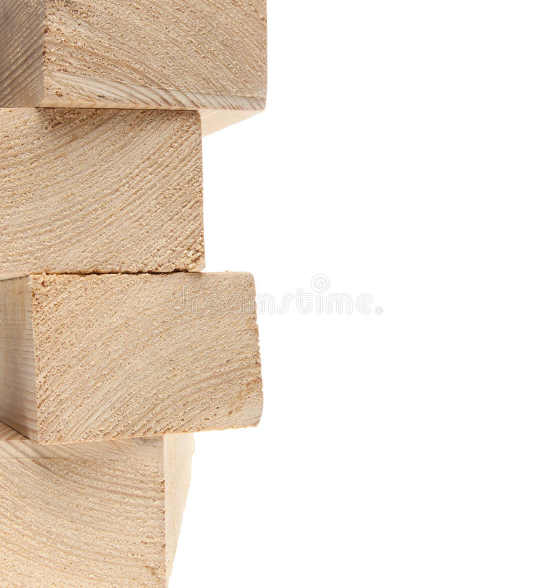 Stack of wooden 2X4s stock photography