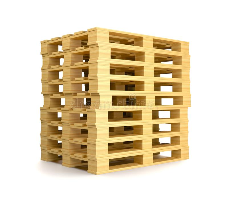 Stack of Pallets stock illustration