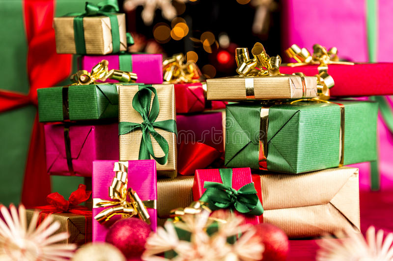 download stack of xmas presents stock photo image of christmasy 43915800 - Xmas Presents
