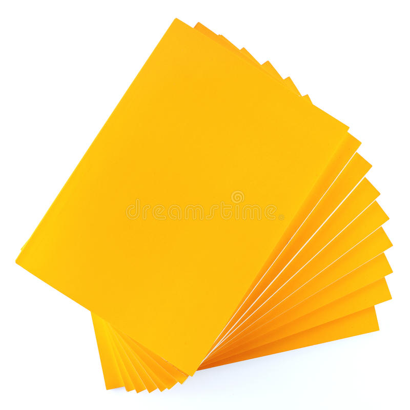 Stack of Yellow Books royalty free stock photography