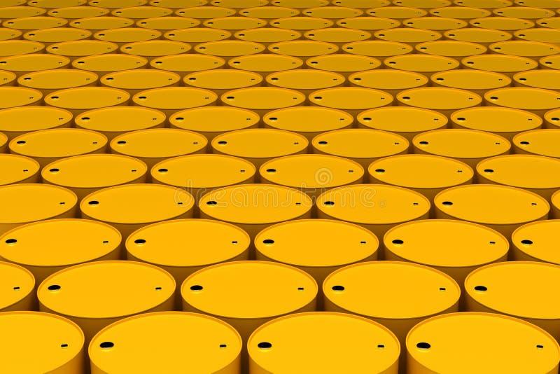 Stack of Oil Barrels stock illustration