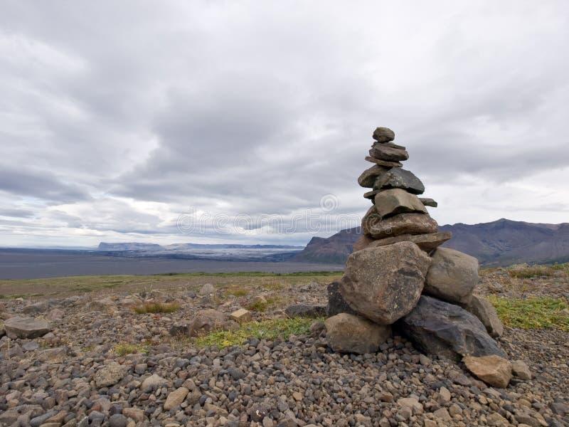 Stack of zen stones in Iceland