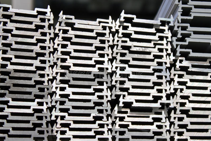 Download Stacked aluminum stock photo. Image of pattern, white - 14062820