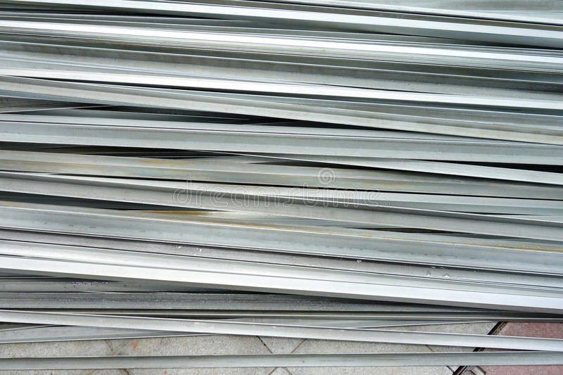 Stacked aluminum. On the construction site stock photography