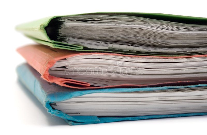 Stacked Binders royalty free stock images