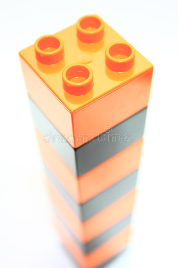Stacked blocks stock photo