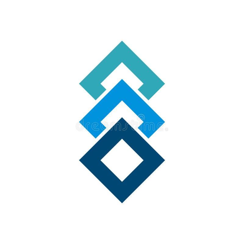 Diamond Stacked Golden Wealth Symbol Logo Design Stock