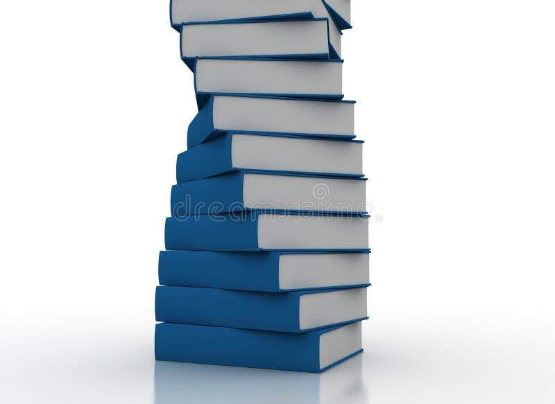Stacked books stock illustration