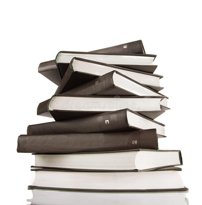 Download Stacked books stock image. Image of view, reflection - 16119307