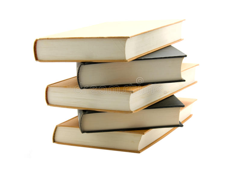 Stacked books stock photography