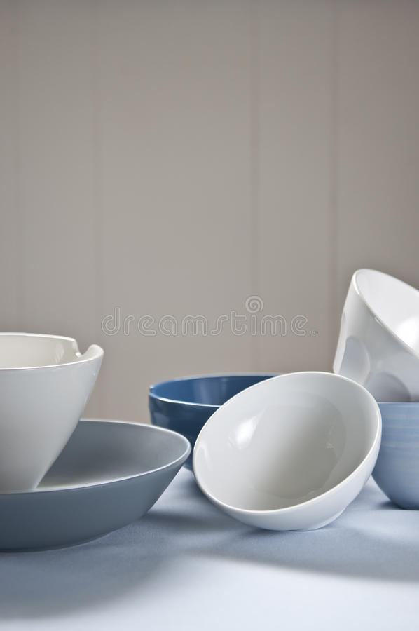 Stacked bowls royalty free stock image