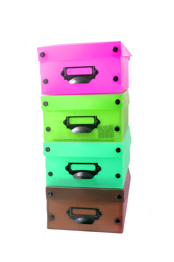 Stacked boxes royalty free stock photo